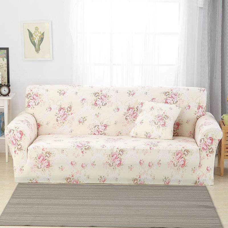 For 1/2/3/4 Seaters Elastic Washable Non Slip Sofa Cover Easy to Install Colorful Sofa Slipcovers Scandinavia Style Home Decoration