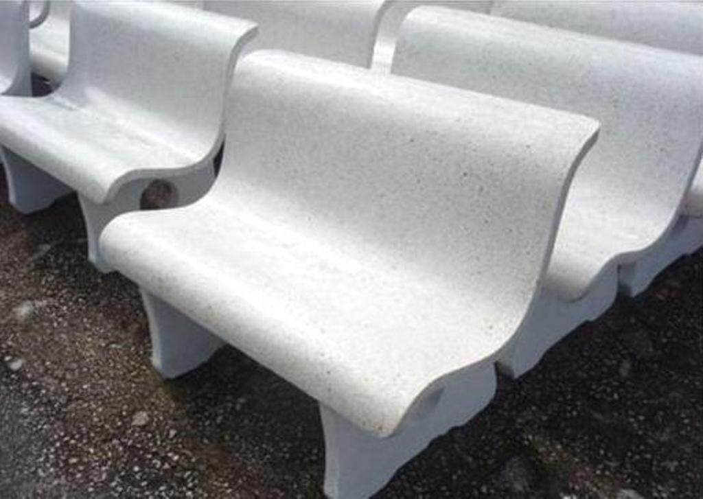 Terrazzo Bench (Including Wording)