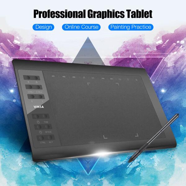 Máy Tính Bảng Vẽ Đồ Họa Chuyên Nghiệp 10X6 Inch 12 Phím Chuyển Phát Nhanh Với 8192 Cấp Độ Bút Stylus Không Dùng Pin/ 8 Cái Ngòi Bút Hỗ Trợ Kết Nối PC/Laptop Để Vẽ Tranh Thiết Kế Khóa Học Trực Tuyến