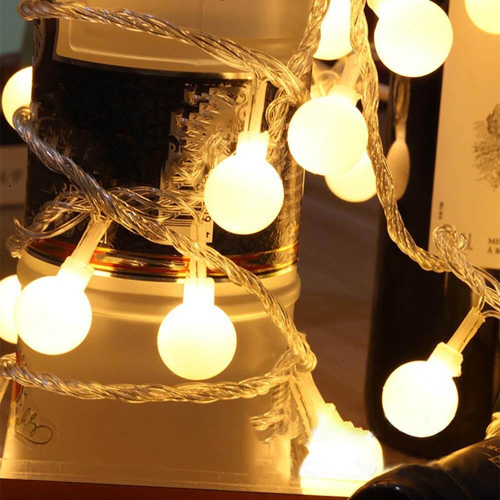 Lampu Garis LED Peri Rumah, Hiasan Rumah Tangga Lampu Bola Bulat untuk Pesta Pernikahan Hari Natal
