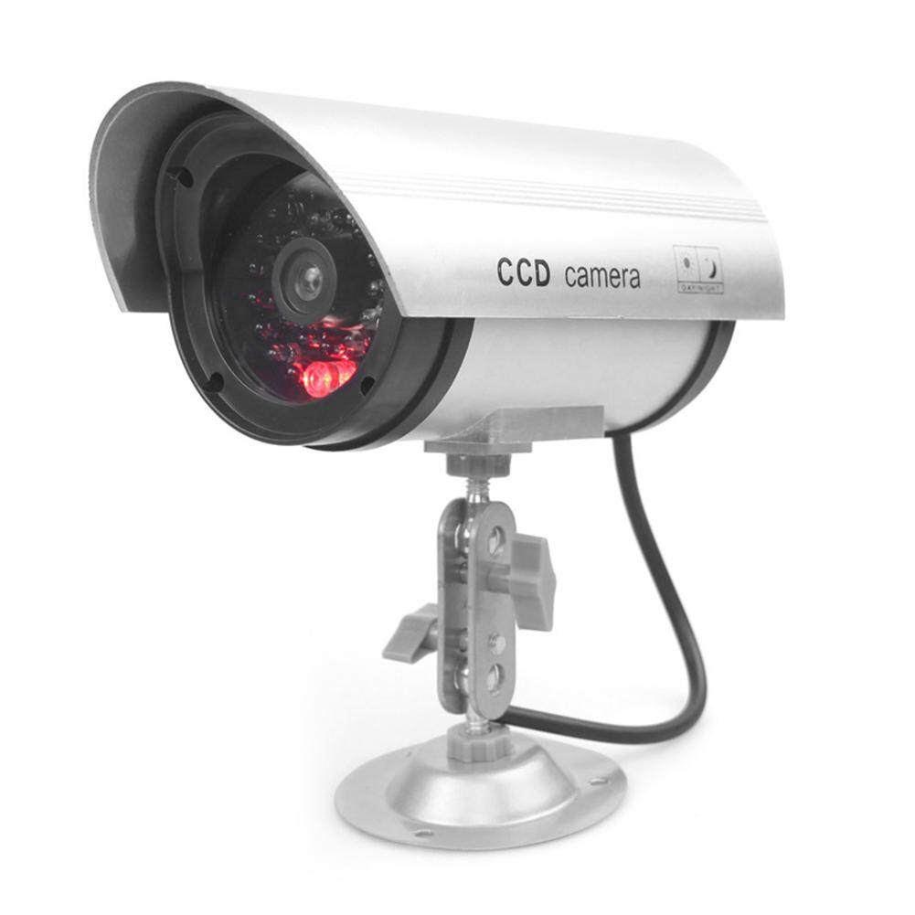 Waterproof Dummy Camera Bullet Flashing Red Outdoor Indoor Fake Cctv Security Simulation Webcam With Metal Holder By Kclub.