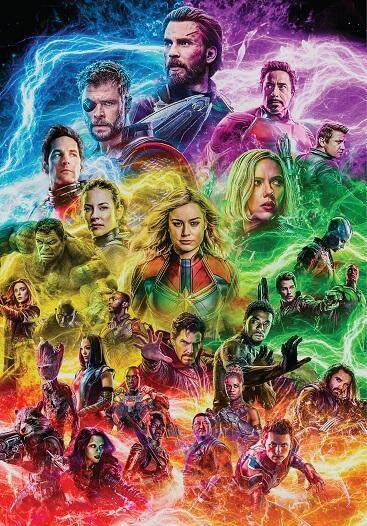 Marvel Avengers Infinity War Endgame All Heroes Gather Quality Paper Poster Wallpaper Painting Art HD