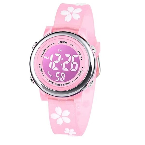 3D Watch Children Electronic Watch Cute Cherry Blossom Waterproof Girl Watch 7 Color Lamp With Alarm Clock Children Watch Malaysia