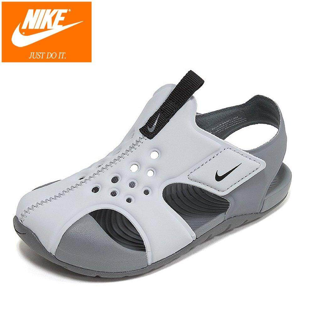 a1b5d0cce664 Nike Kids Sunray Protect 2 TD 943827-004 Grey Baby Sandal Infant Toddler  Shoes