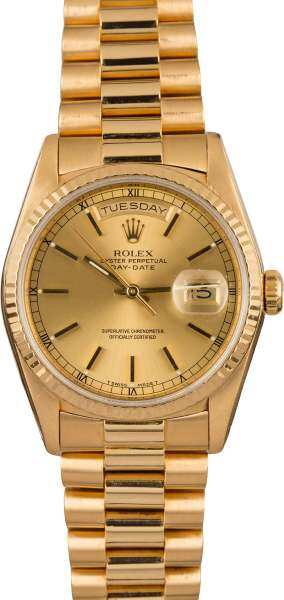 Rolëx Oyster Perpetual Prësident Yellow Gðld Day-Date Malaysia