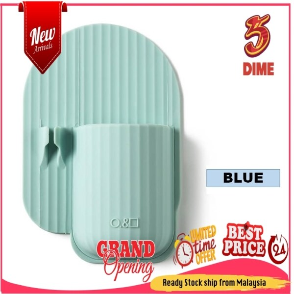 FIVE & DIME Toothbrush Holder Non-Perforated Bathroom Silicone Toothpaste Comb Wall Hanging Shelf Household