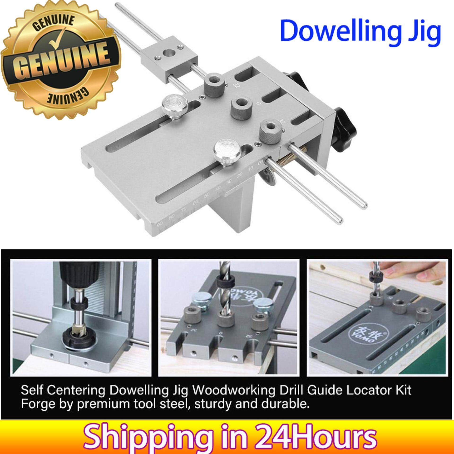 【Made in Italy 】3 in 1 6/8/10/15mm Woodworking Self Centering Dowelling Jig Drill Guide Locator Kit