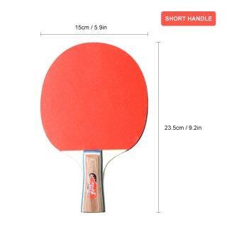 2PCS lot Table Tennis Racket Ping Pong Rackets Pimples In Long Short Handle Ping Pong Paddle Racket Set With Bag 3 Balls thumbnail