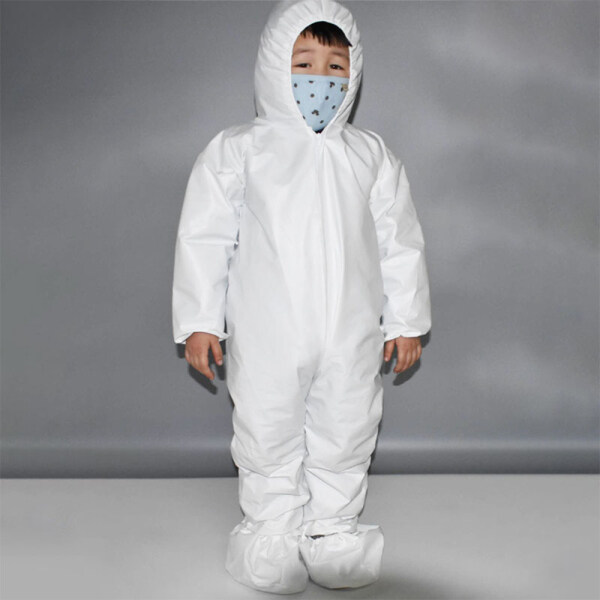 Kid disposable Isolation Clothing White S M L