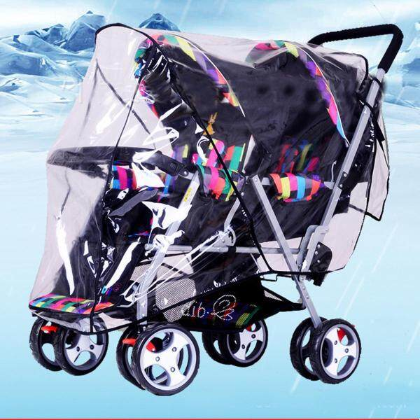 Clear Stroller Rain Cover Weather Pram Baby Infant Double Pushchair Wind Shield Singapore