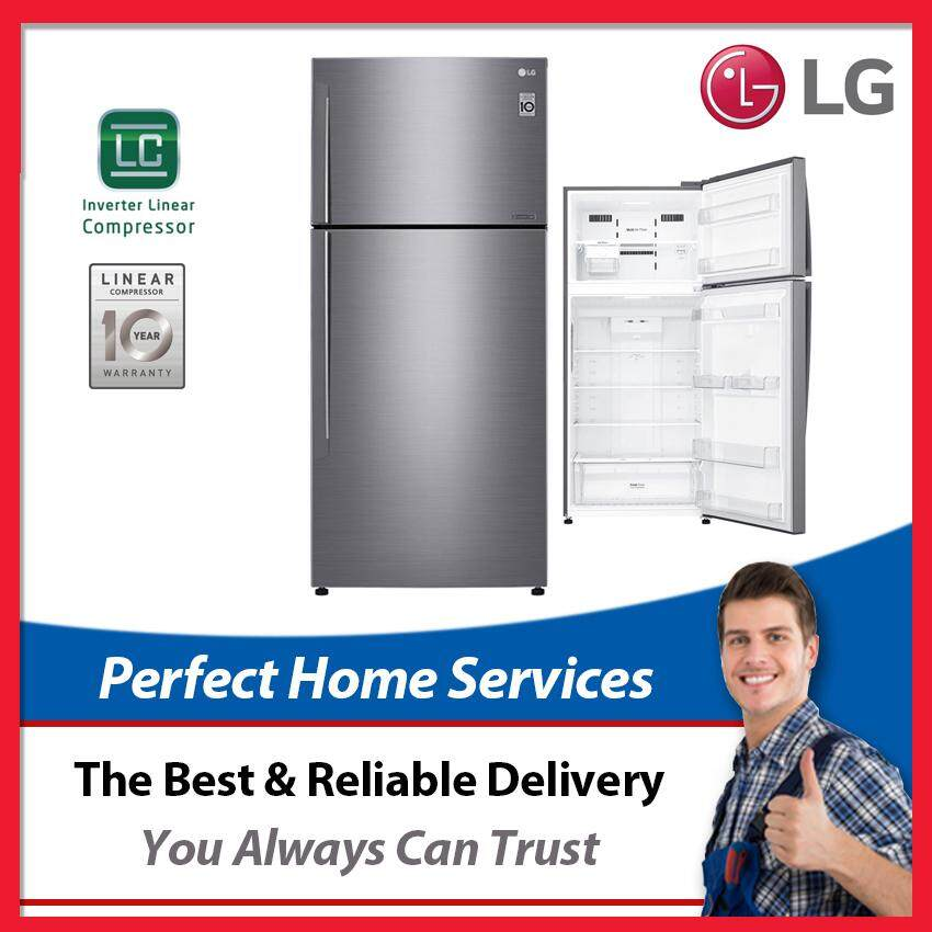 LG New 516L (GN-C602HLCC) Inverter Linear Compressor Fridge with Door Cooling, Express Direct Shipping Within Klang Valley