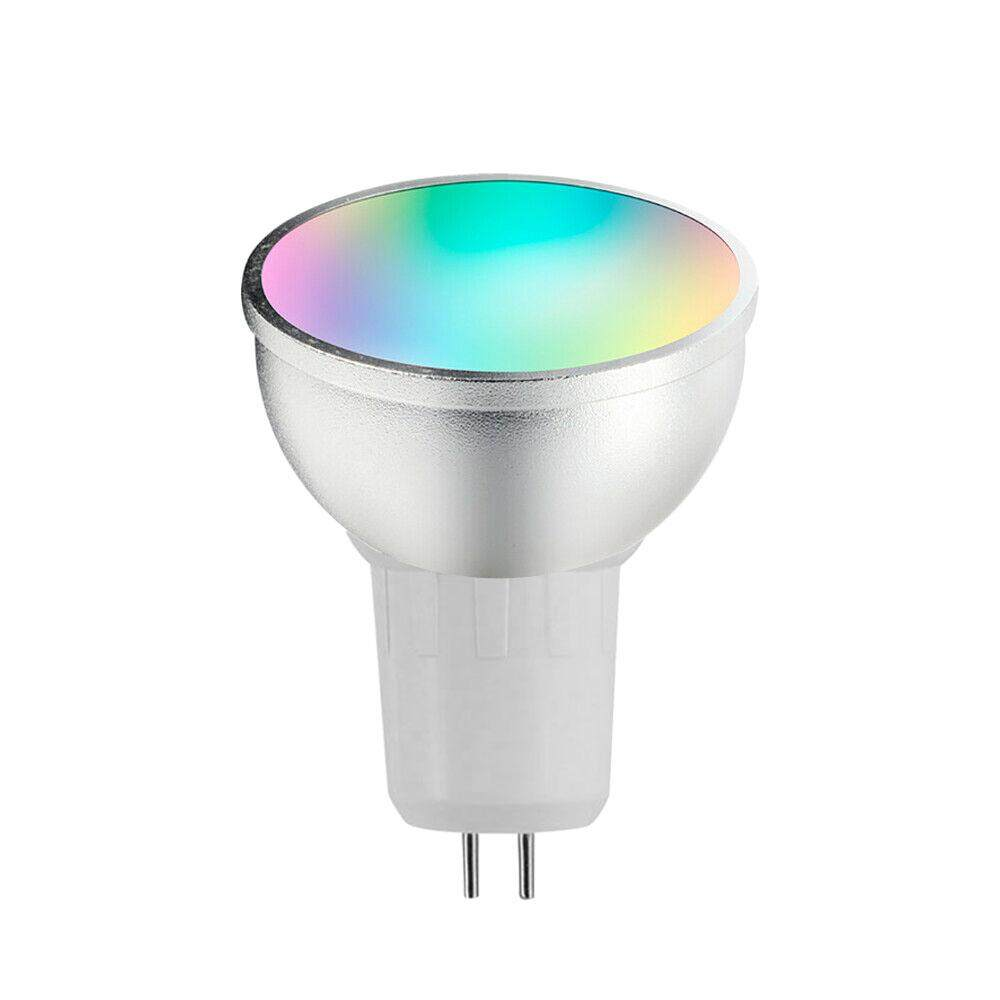 V18 Smart WIFI LE-D Bulb RGB+W LE-D Bulb 6W GU5.3 Dimmable Light Phone Remote Control Compatible with Alexa Goog-le Home Tmall Genie Voice Control Light Bulb