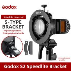 Đế Đỡ Gắn Đèn Godox S2 Bowens, Gá Đèn Godox V1 V860II AD200 AD400PRO Speedlite Loại S Dù Softbox