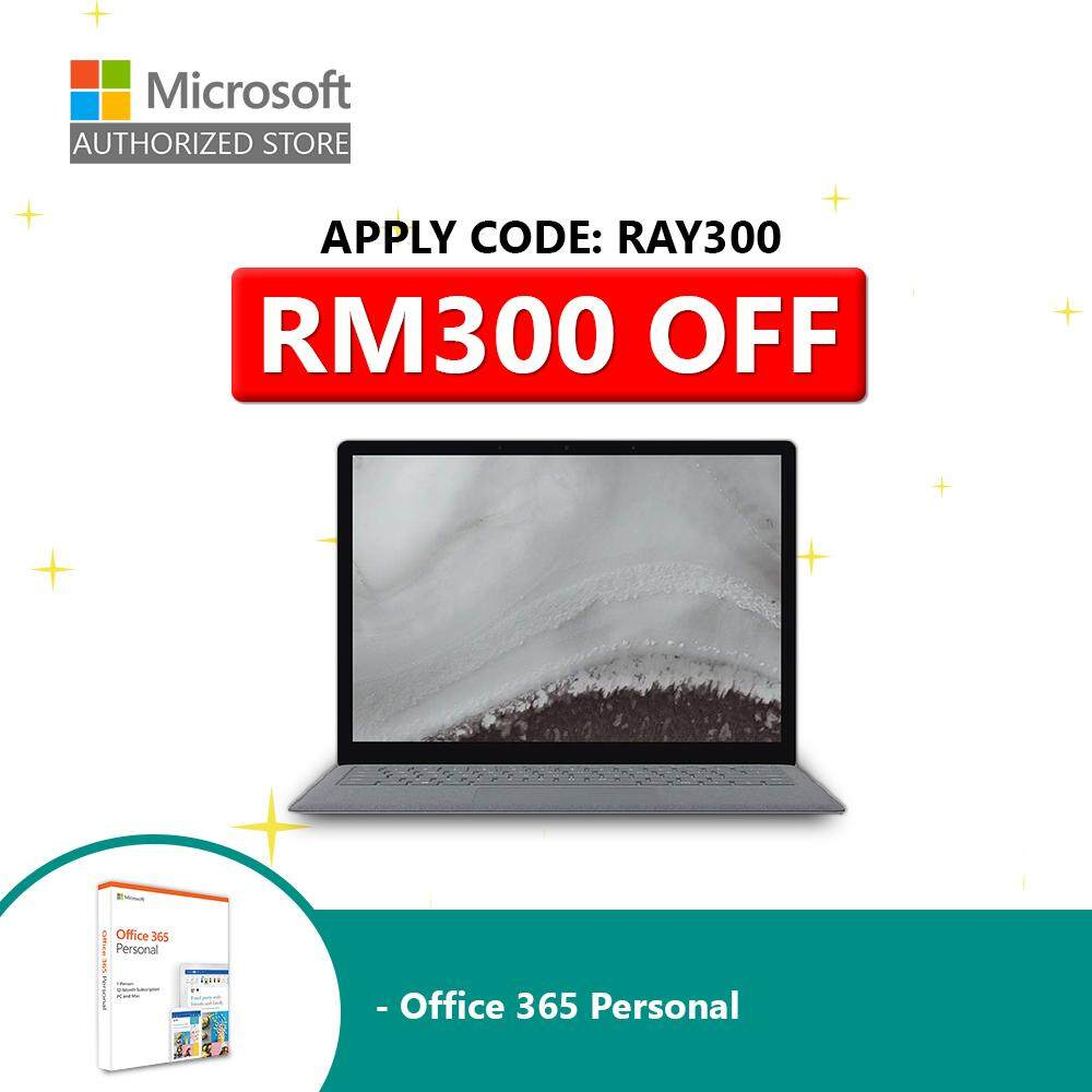Microsoft Surface Laptop 2 i5/8/128GB (Platinum) + Official 365 Personal Malaysia
