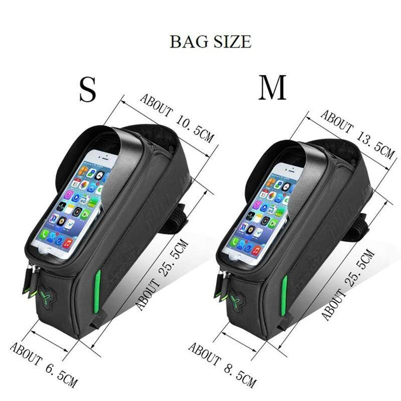 "RockBros Bike Bicycle Frame Front Waterproof Bag for 5.8/""Touch Screen Phone Bag"