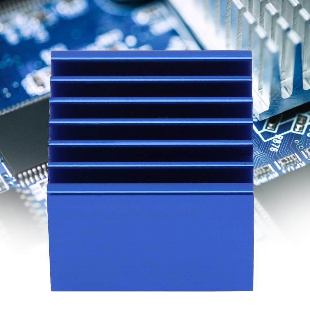 (Gold Certified Qianmei)10pcs Q14.5*13*15 Blue Aluminum Cooling Fin Heat Sink Cooler for Mainboard Chip