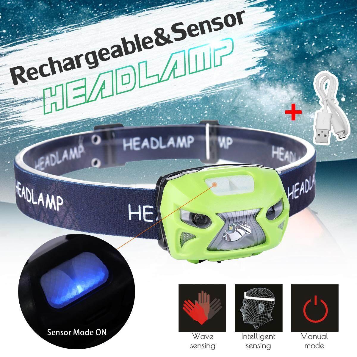 50000LM LED Headlamp Rechargeable Motion Sensor Head Lamp Headlight Flashlight