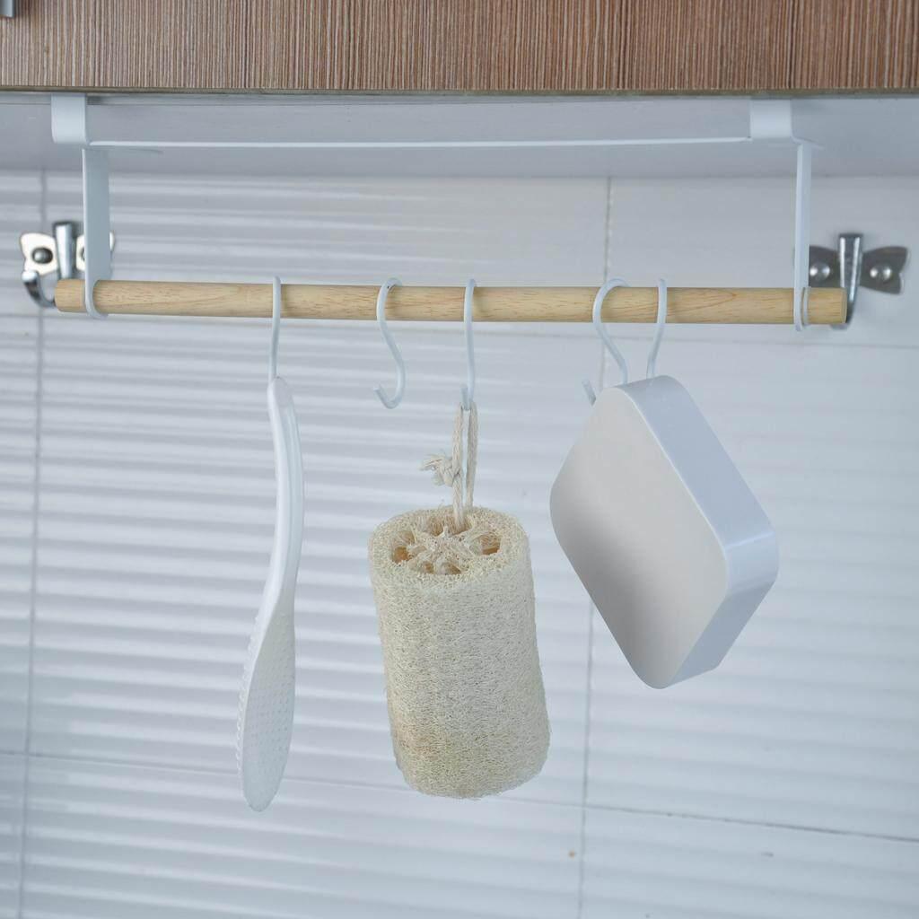BolehDeals Metal Mug Hook Under Shelf Cup Hooks Kitchen Dishcloth Hanger Rack Holder
