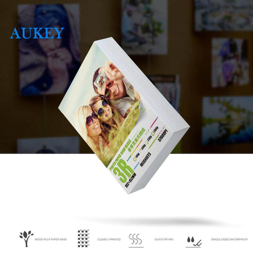 Photographic Paper Glossy Printing Paper Printer Photo Paper Convenient (8.9*12.7) 3R 5 Inches for Inkjet Color Printer Printer Photo ID Photos Inkjet Printer Paper Home Office