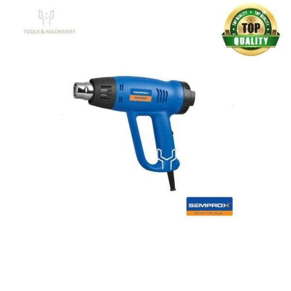 SEMPROX SHG2001 Heat Gun 2000W -Soft stand at the back of the machine ensure safety once place vertical -D handle for easier grip -With 2-speed control allowed different area use  -With overload protected function ensure safety use  -Ten layer of high tem