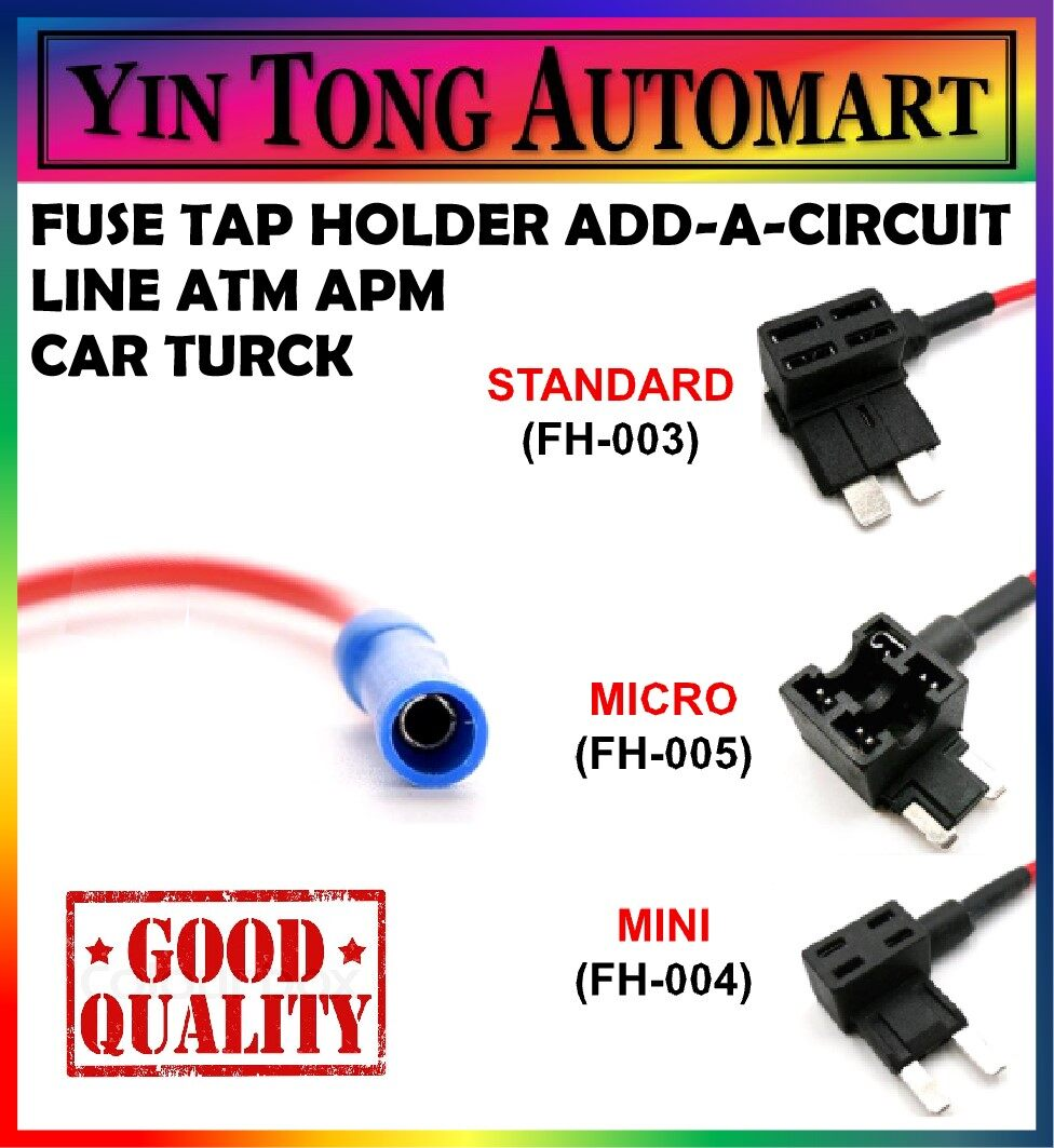 Mini 5pcs 12V Automotive Add A Circuit Fuse Adapter Blade Fuse Holder Car Add A Circuit Fuse Tap
