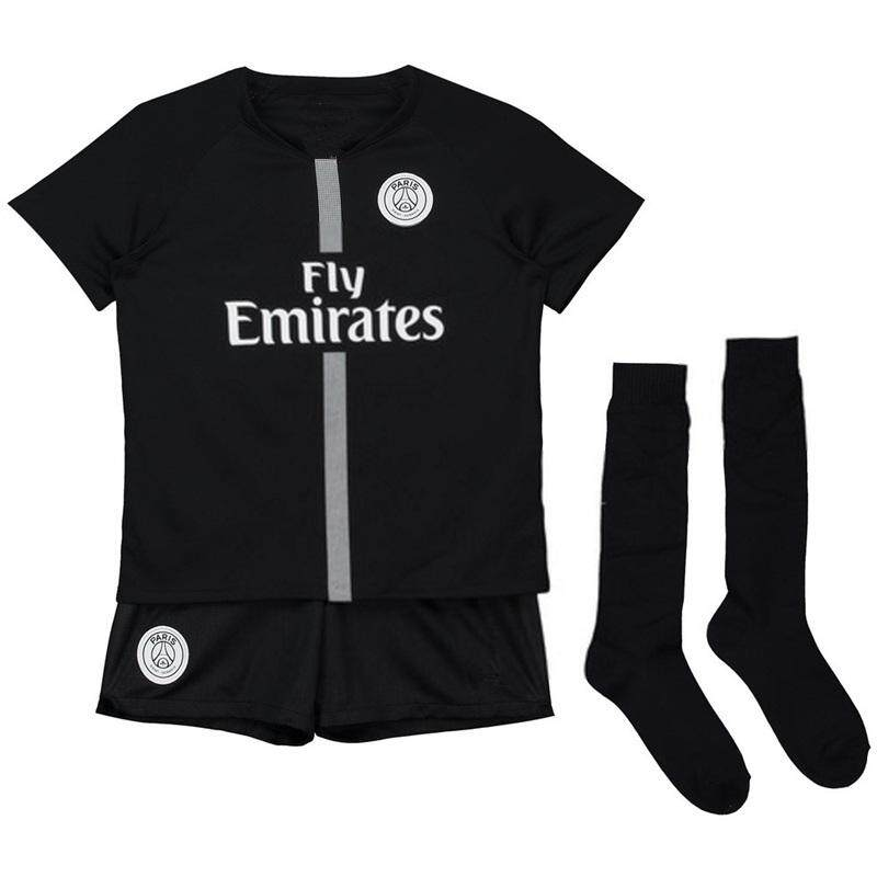 8666beab8aa (Free Socks) Children Top Quality PSG AJ Home and Away and 3rd Football  Jersey