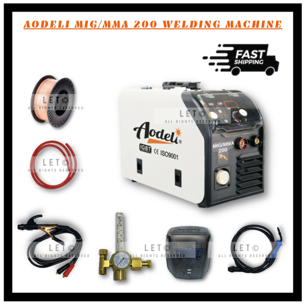 AODELI MIG/MMA 200 INVERTER WELDING MACHINE ONLY COMPLETE WITH FREE STANDARD ACCESSORIES