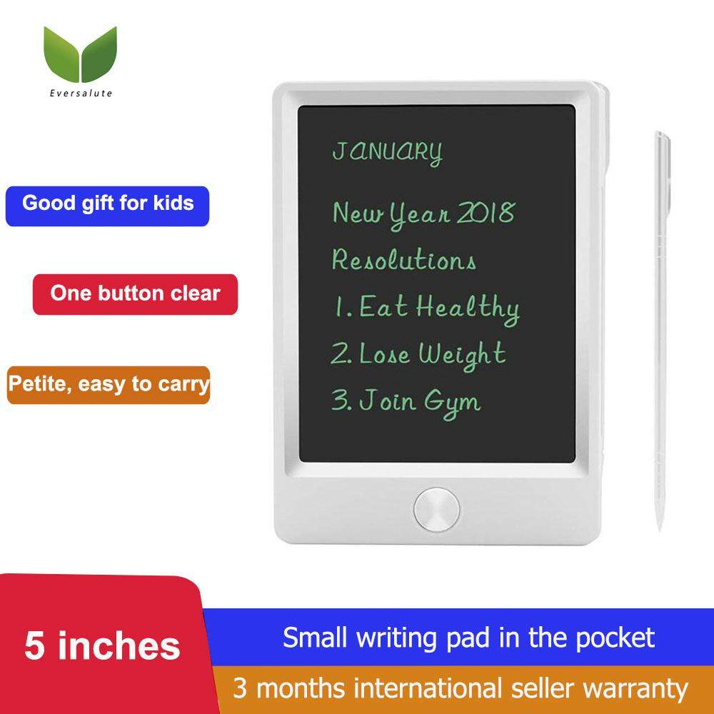 Eversalute 5 Inch LCD Writing Tablet With Stylus, Electronic Writing & Drawing Doodle Board, Mini Handwriting Drawing Tablet Kids & Adults, LCD Draft Pad Smart Stylus Home, School Office