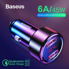 Sạc Nhanh Xe Hơi Baseus 45W 4.0 3.0, Đầu Sạc USB Cho Điện Thoại Xe Hơi Xiaomi Mi Huawei Samsung Supercharge Scp QC4.0 QC3.0 PD Nhanh USB C