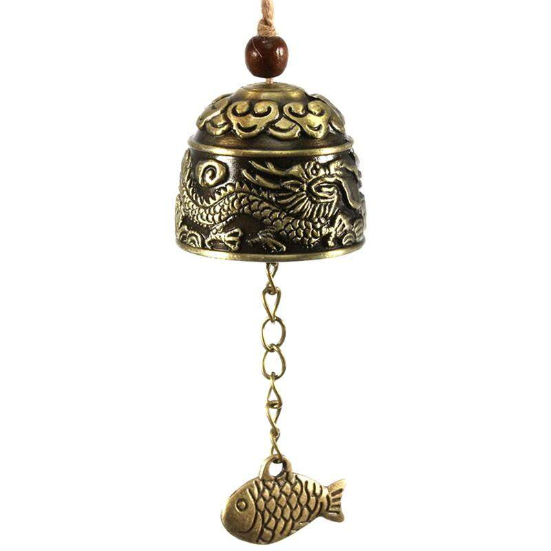 Jettingbuy Dragon/fish Feng Shui Bell Blessing Good Luck Fortune Hanging Wind Chime.