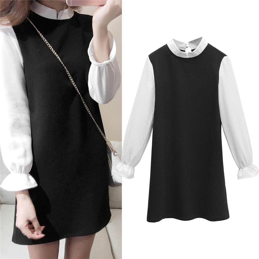 deb7452f8a2e Classic Style Korean Plus Large Size Women s Autumn And Winter Long Sleeve  Dress