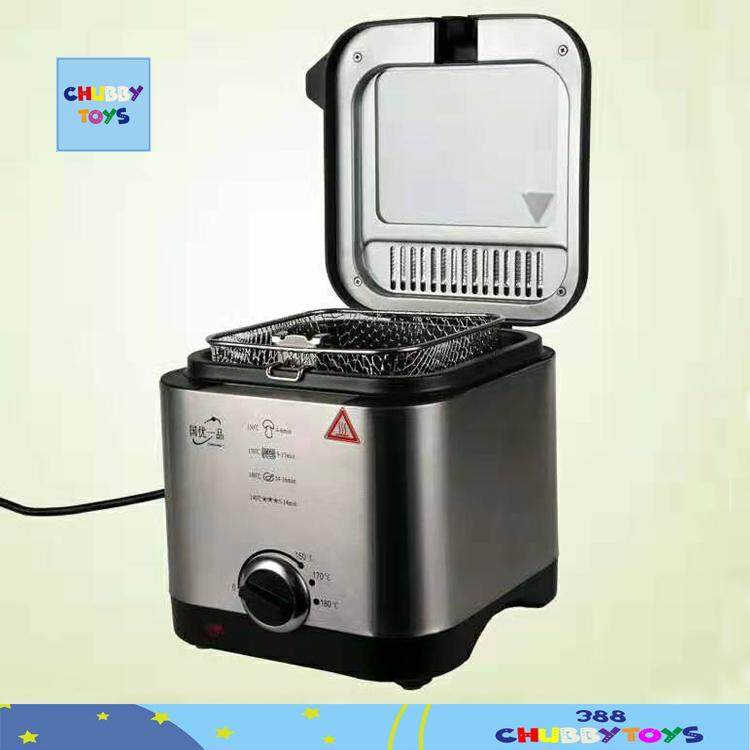 【ready Stock】1.5l Superior Quality Stainless Steel Deep Fryer 900w Deep Fryers Nugget Fries By 388 Chubbytoys.