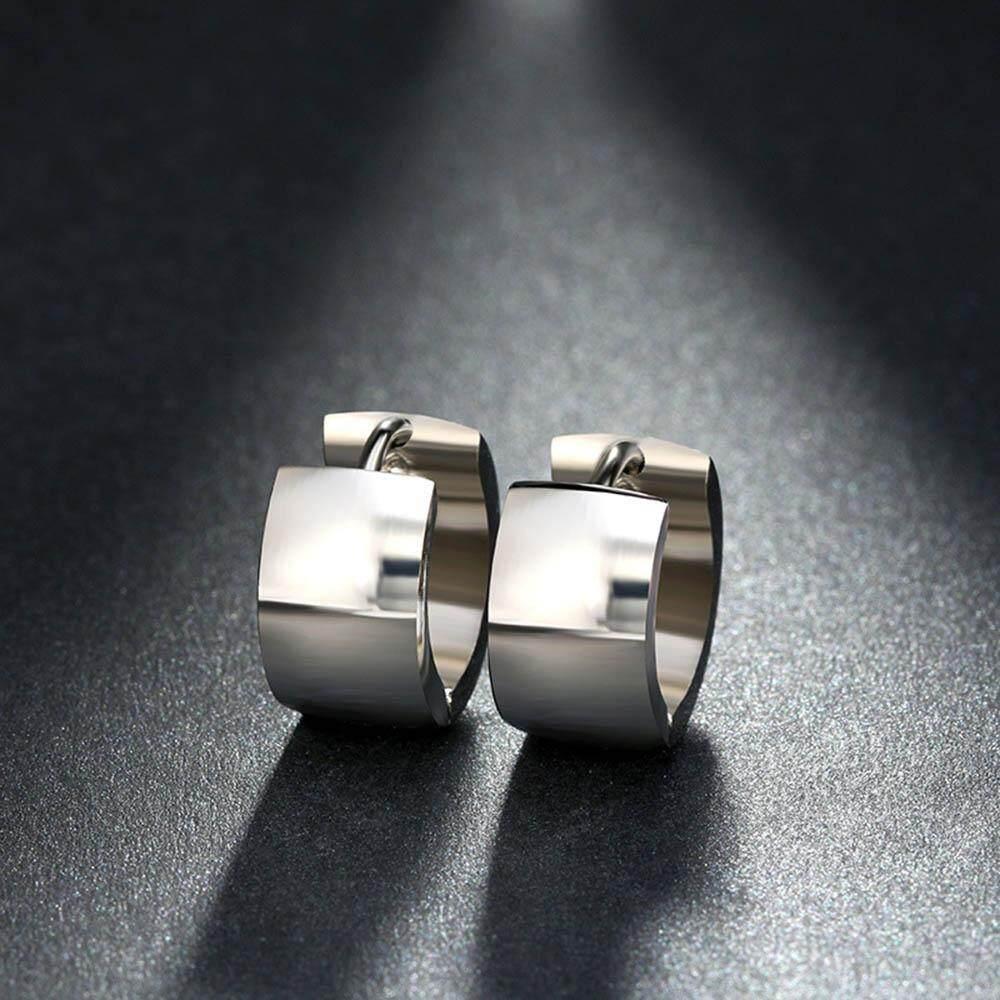 Earring Woman Piercing Lady Stainless Steel Jewelry 1 Pair Punk Hoop Earrings