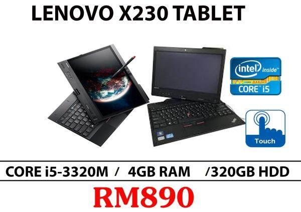 Lenovo X230 Tablet Intel Core i5-3320M 4GB RAM 320GB HDD 12.5 Inch Malaysia
