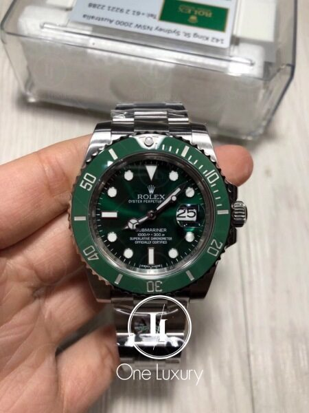 [ONE LUXURY] SUBMARINER WITH DATE GREEN DIAL HULK ON 904L STAINLESS STEEL BRACELET CAL.3135 116610LV / 116610 绿水鬼 Malaysia