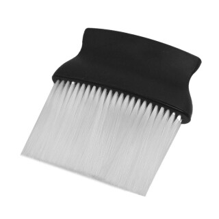 Black White Plastic Hair Salon Neck Duster Cleaning Brush for Barber thumbnail