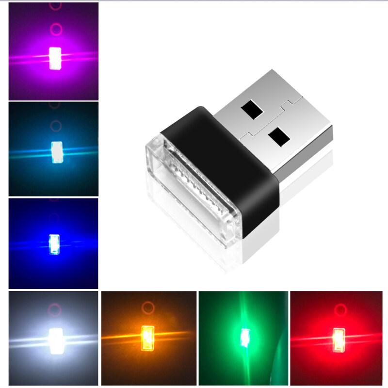 Bảng giá 2 Chiếc USB Mini Đèn LED Nhiều Màu Sắc Bầu Không Khí Đèn Khẩn Cấp Cho Xe Hơi PC Phong Vũ