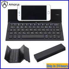 Bàn Phím Gập Bluetooth 3.0 Amorus, Không Dây, Có Chân Đế Cho Điện Thoại Thông Minh Windows/IOS/Android Và Máy Tính Bảng, Samsung S6 Lite, Ipad 7 Gen, V. V.