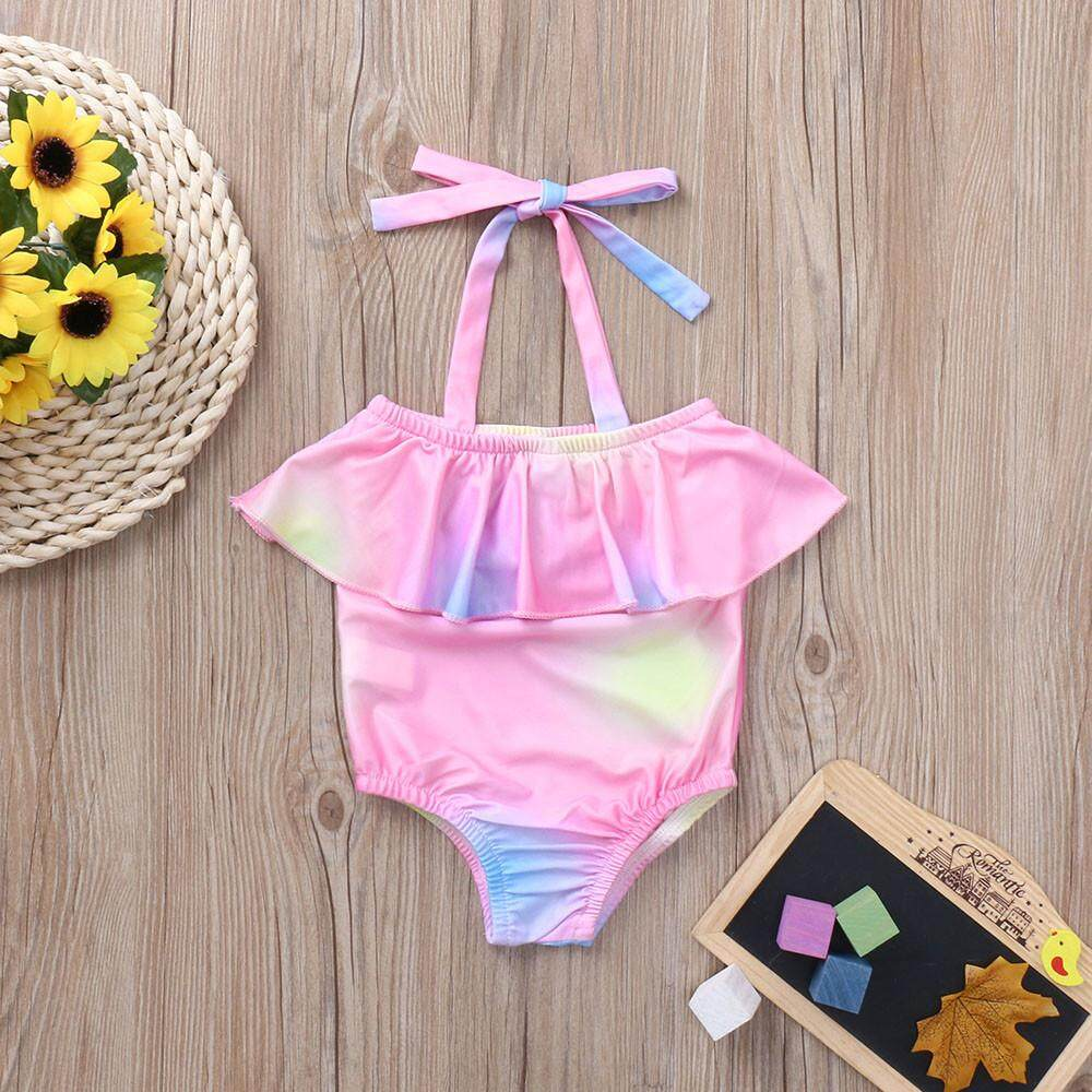 Haomian Hkhk New Dream Color Beautiful Toddler Baby Girls Sleeveless Swimsuits Swimwear Rainbow Bathing Suit Clothes By Haomian Hkhk.