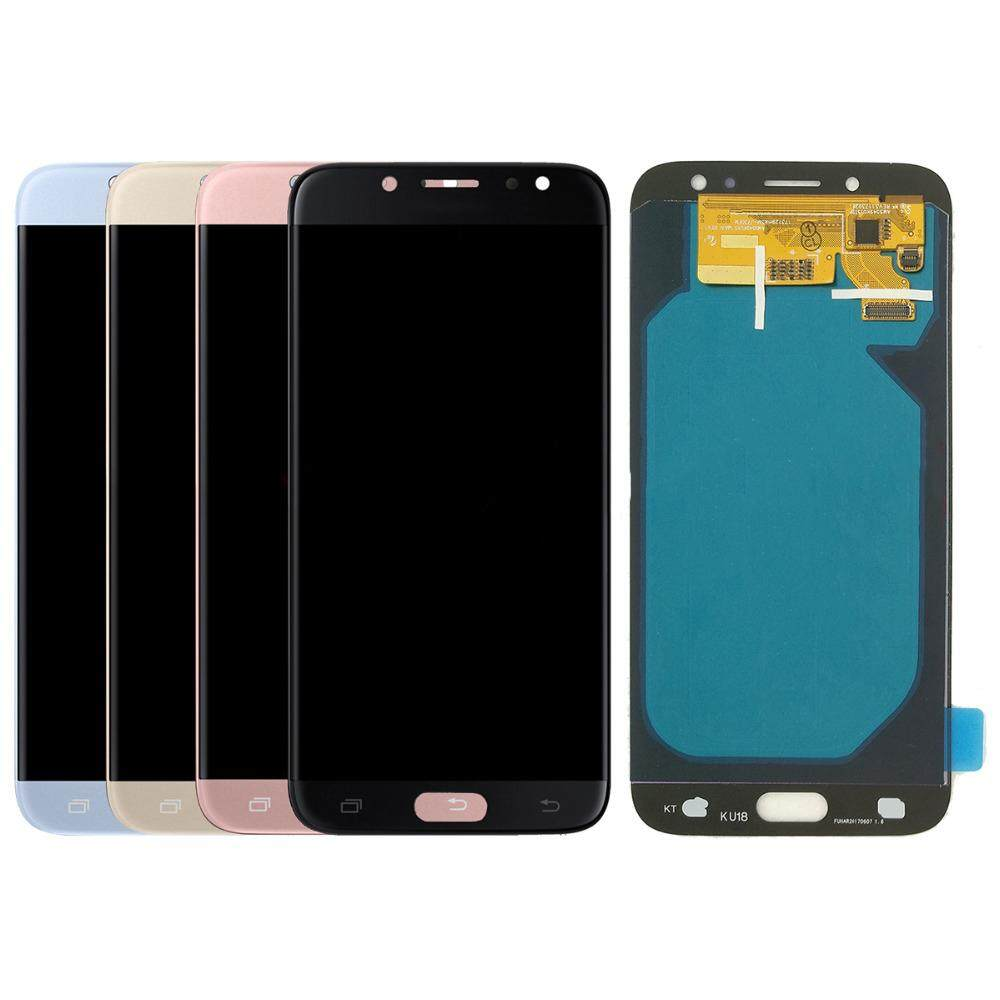Brightness Adjustable LCD Screen Replacement Parts For Samsung Galaxy J7 Pro J7 2017 J730 J730G/DS J730GM/DS LCD Display Touch Screen Digitizer Assembly with Frame Adhesive + Free Repair Tools
