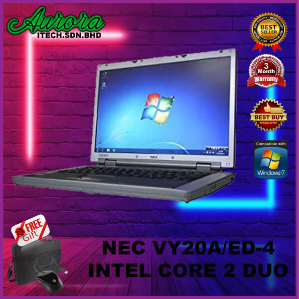(REFURBISHED) NEC VY20A/ED-4 LAPTOP / CORE 2 DUO / 2GB RAM / 160GB HDD / WINDOW 7 PRO Malaysia