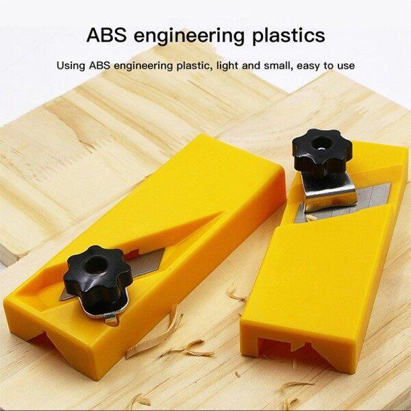 [Ready Stock] ABS 45/90Degree Woodworking Plane Edge Trimmer Hand Planer Carpenter Polishing
