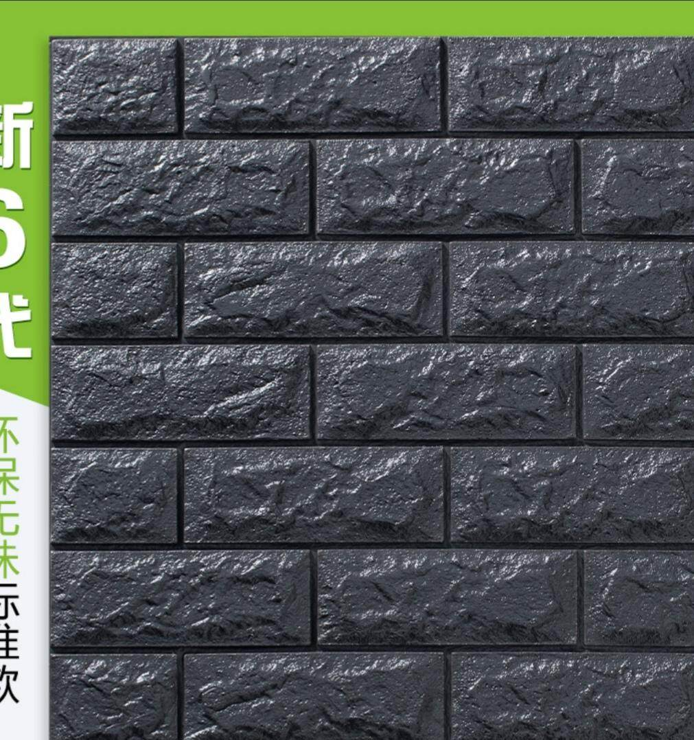 [Ready stock fast delivery] 3D Wallpaper ( brick pattern stickers)