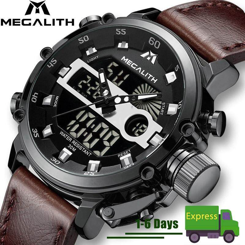 [CNY Flash Sale]MEGALITH Fashion Mens LED Sport Quartz Watch Men Waterproof Date Military Multifunction Wrist Watches Men Clock Horloges Malaysia