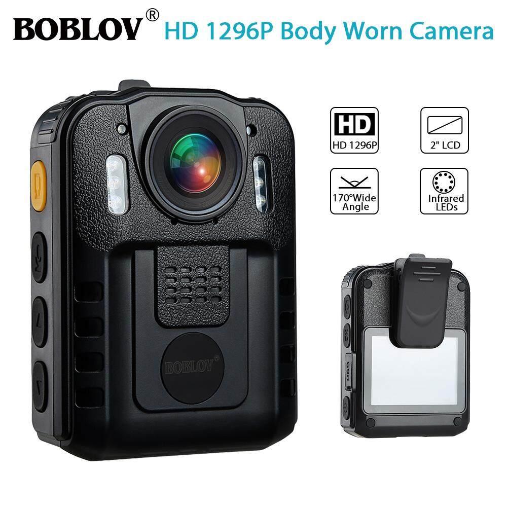 Boblov Wn9 1296 P Full Hd ขนาดกะทัดรัดและแบบพกพากล้องตำรวจกระเป๋ากล้อง Action Camera กล้องวิดีโอการมองเห็นได้ในเวลากลางคืนกันน้ำ 170 ° มุมกว้าง By Jiehaosheng Estore.