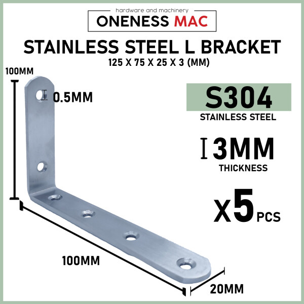 S304 Stainless Steel L Bracket Premium Quantity  Thick and Sturdy