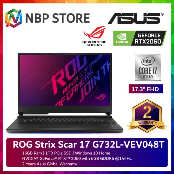 Asus ROG Strix Scar 17 G732L-VEV048T 17.3 FHD 144Hz Gaming Laptop ( i7-10875H, 16GB, 1TB SSD, RTX2060 6GB, W10 ) Malaysia