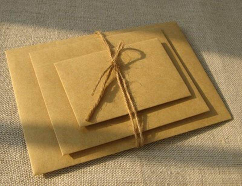Retro Square Blank Kraft Paper Envelopes Simple Personality Hand Art Creative Invitation Letter Envelope-in Paper Envelopes from Office