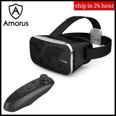 Amorus Kính Video VR 3D Thực Tế Ảo V3 Công Viên VR, Tai Nghe Với Điều Khiển Từ Xa Màu Đen