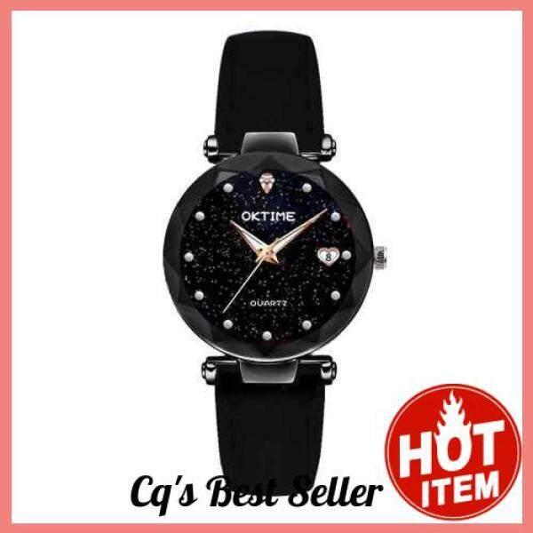 [CAI QI] Women Fashion Brilliant Starry Night Dial Watch (Black) Malaysia